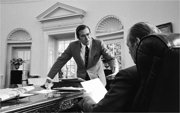 Rumsfeld and Gerald Ford